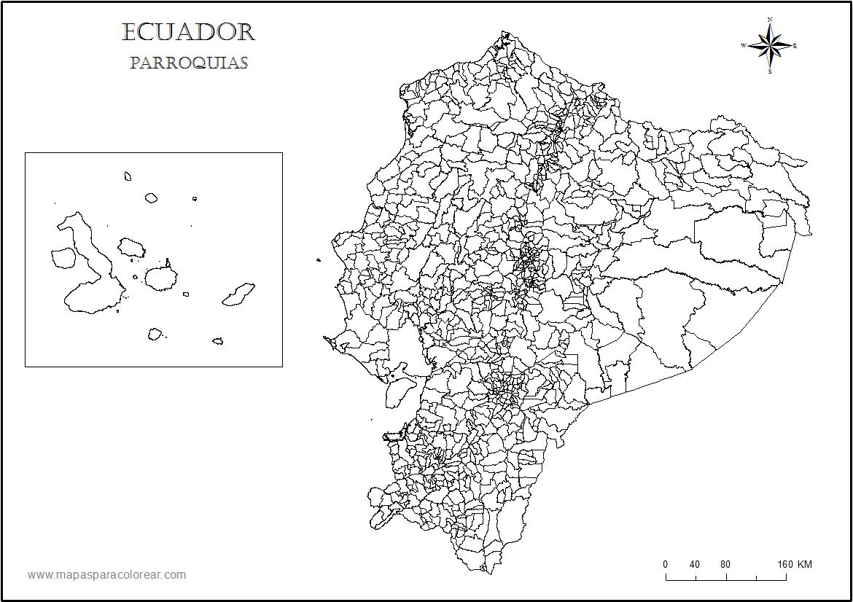 mapa ecuador parroquias