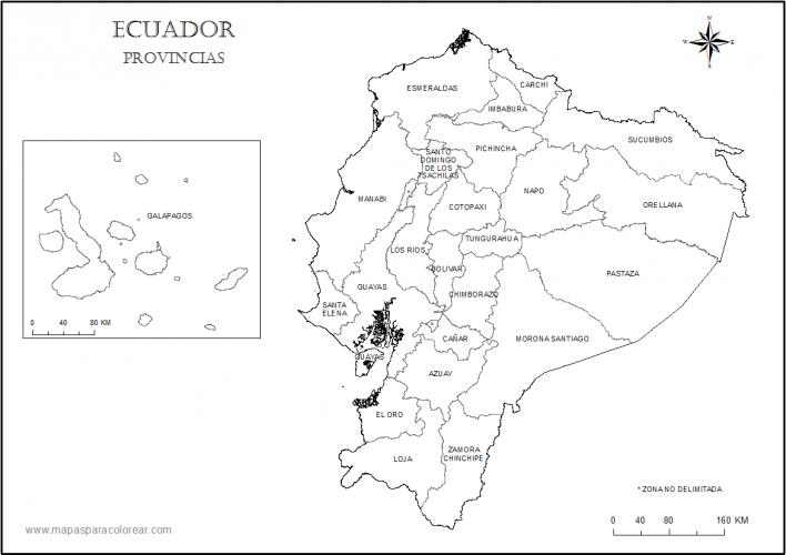 mapa ecuador provincias