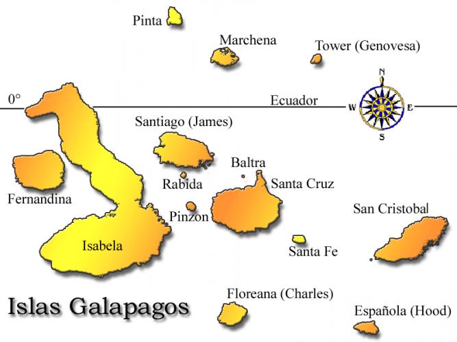 islas galapagos mapa