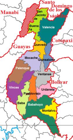cantones provincia de los rios